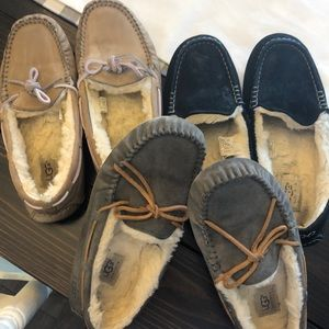 Three pair of UGG shoes